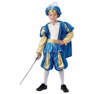 Blauw prinsen kostuum jongens