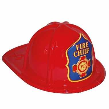 Brandweerhelm rood verkleed accessoire kinderen