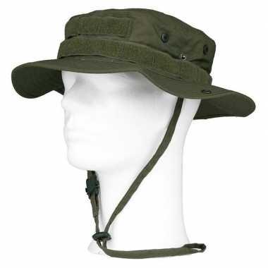 Bush/ranger hoed groen volwassenen