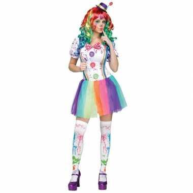 Carnavalskleding Dames Clown.Compleet Clowns Kostuum Paint Dames Hoeden En Petten Nl