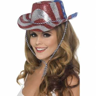 Cowboy glitterhoed USA