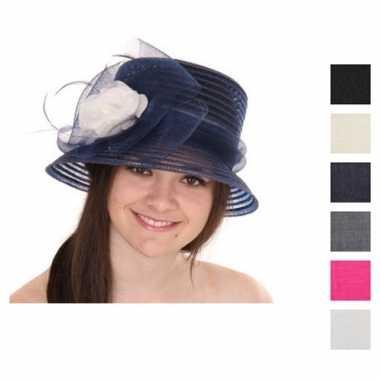 Dames hoed strik bloem