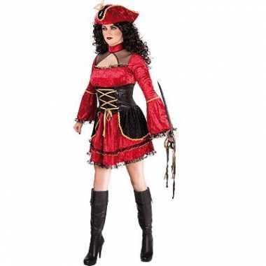 Dames piratenjurkje rood