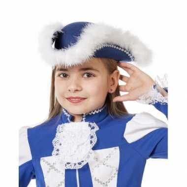 Dansmarieke hoed blauw meisjes