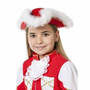 Dansmarieke hoed rood meisjes