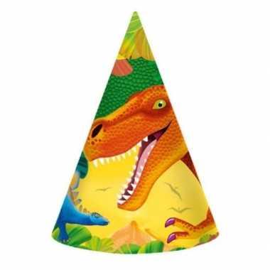 Dinosaurus feesthoedjes stuks 10099712