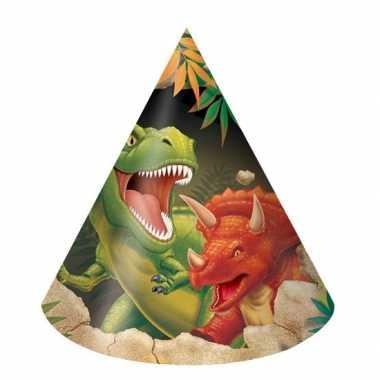 Dinosaurus feesthoedjes stuks 10126518