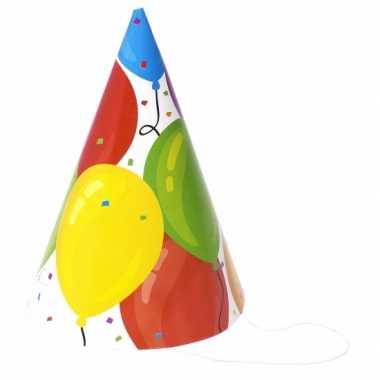 Feesthoedjes ballonnen stuks