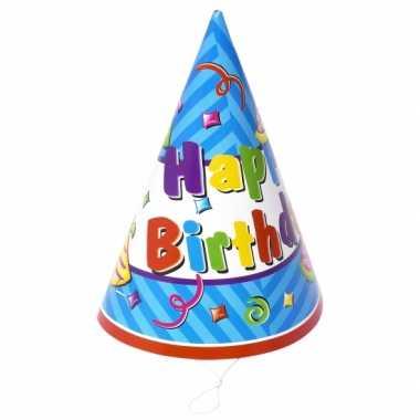 Feesthoedjes Happy Birthday stuks