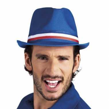 Frankrijk trilby hoedje blauw