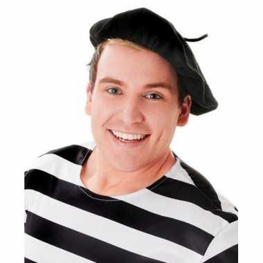 Franse baret zwart