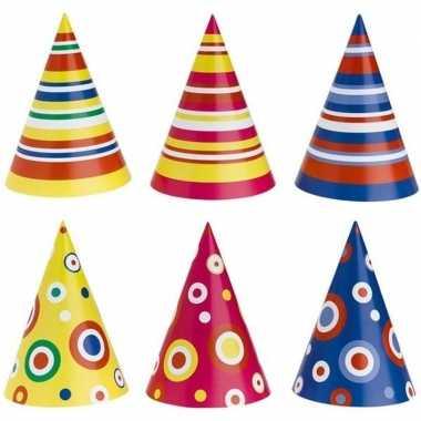 Gekleurde feesthoedjes stuks