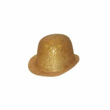 Goud bolhoedje glitters