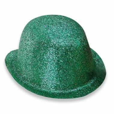 Groen bolhoedje glitters