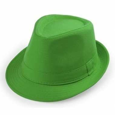 Groen trilby verkleed hoedje volwassenen