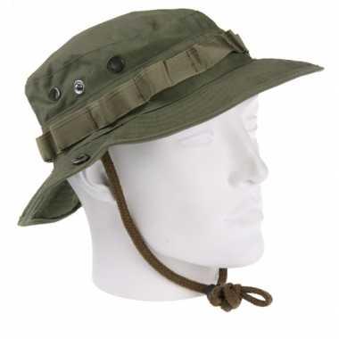 Groene bush hoed extra drukknoop