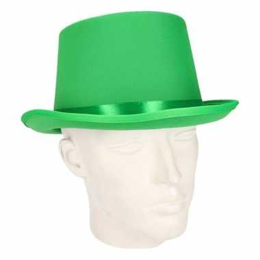 Groene hoge hoed volwassenen