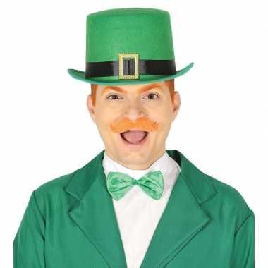 Groene st patricks day hoed vilt volwassenen