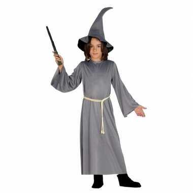 Halloween grijze tovenaars cape kinderen