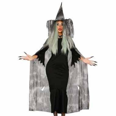 Halloween heksencape halloween kostuum hoed dames