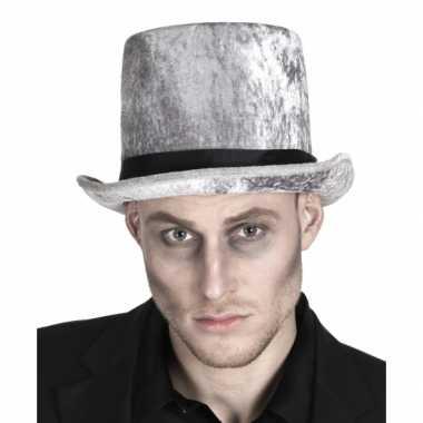 Halloween hoge zombie grafgraver hoed