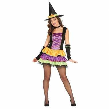Halloween zwart heksen kostuum dames
