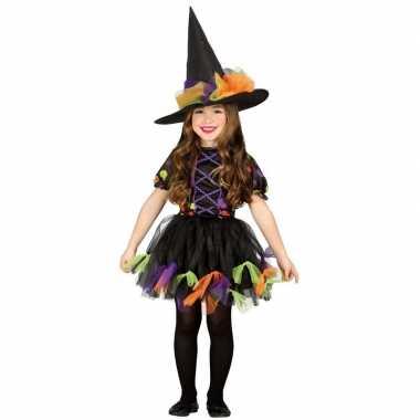 Halloween zwart heksen kostuum meisjes