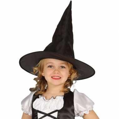 Halloween zwarte heksenhoed beryl meisjes