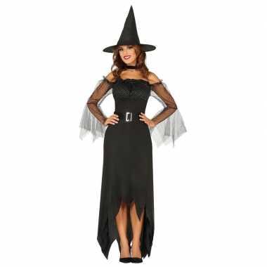 Halloween Kostuum Nl.Halloween Zwarte Lange Heksen Kostuum Dames