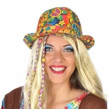 Hippie trilby verkleed hoedje volwassenen