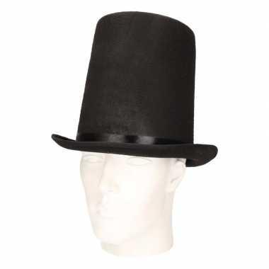 Hoge abraham lincoln hoed zwart volwassenen