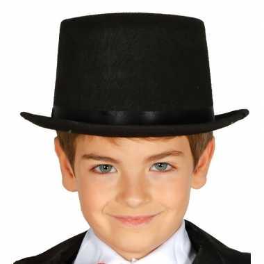Hoge hoed zwart kinderen
