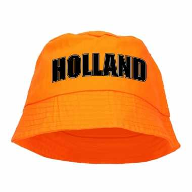 Holland supporter visserspetje / zonnehoedje oranje koningsdag ek / wk fans