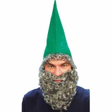 Kabouter muts baard groen