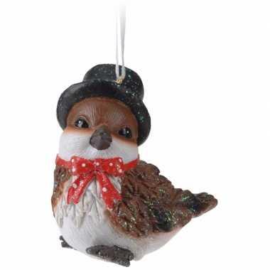 Kerst vogeltje hoge hoed type