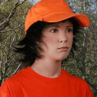 Kinder baseballcap oranje
