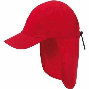 Kindercap rood nek bescherming