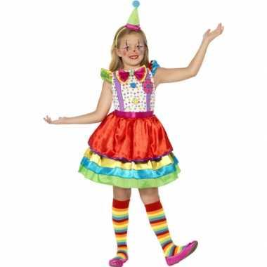 Kleurrijk clowns jurkje meisjes