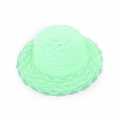 Lime groene dameshoed organza stof