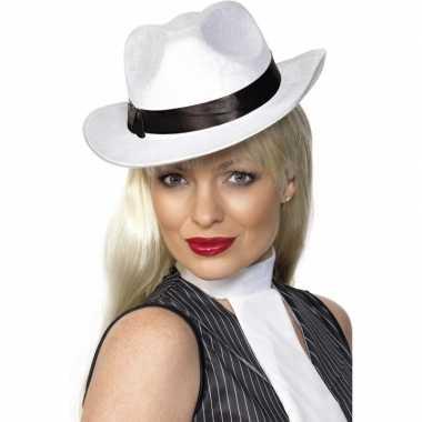 Luxe Al Capone hoed wit