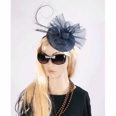 Luxe navy koninginnen hoed christina