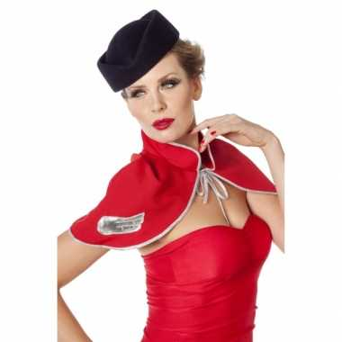 Luxe stewardess hoedje