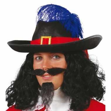 Musketiers hoed veer volwassenen