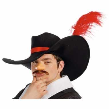 Musketiers hoed veer