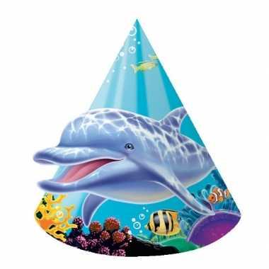 Oceaan thema feesthoedjes stuks