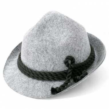 Oktoberfest Alpen hoed grijs volwassenen