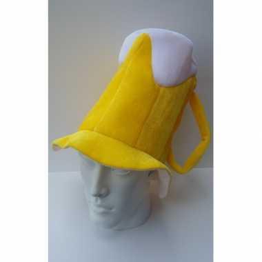 Oktoberfest bierpul hoed schuimkraag