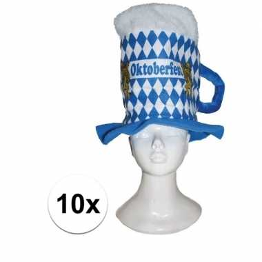Oktoberfest bierpul oktoberfest verkleed hoeden