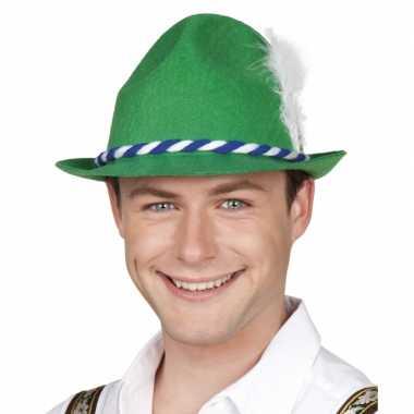 Oktoberfest Groene bayern hoed witte veer