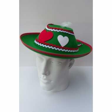 Oktoberfest tiroler hoed dames
